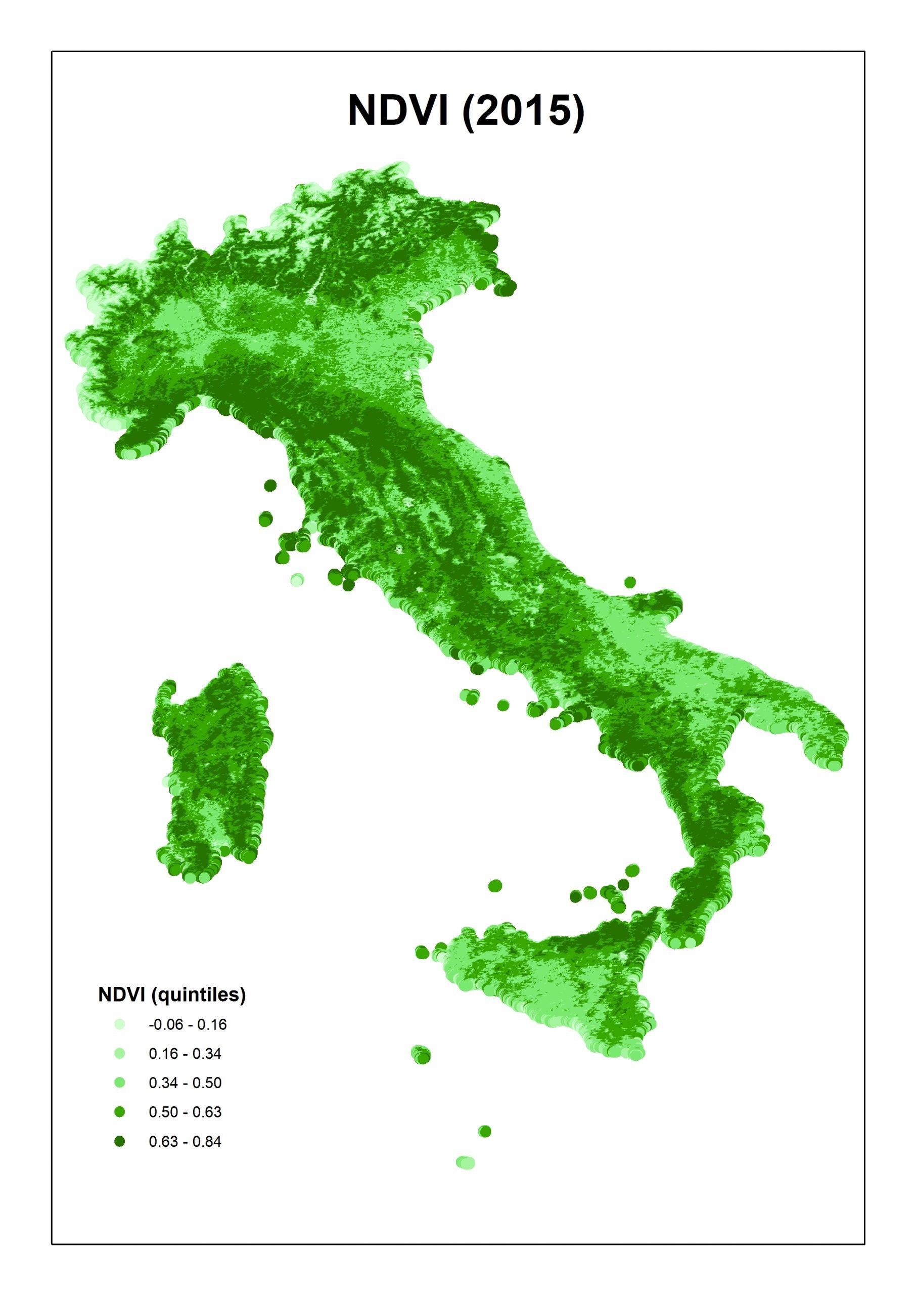 NDVI 2015 Italia