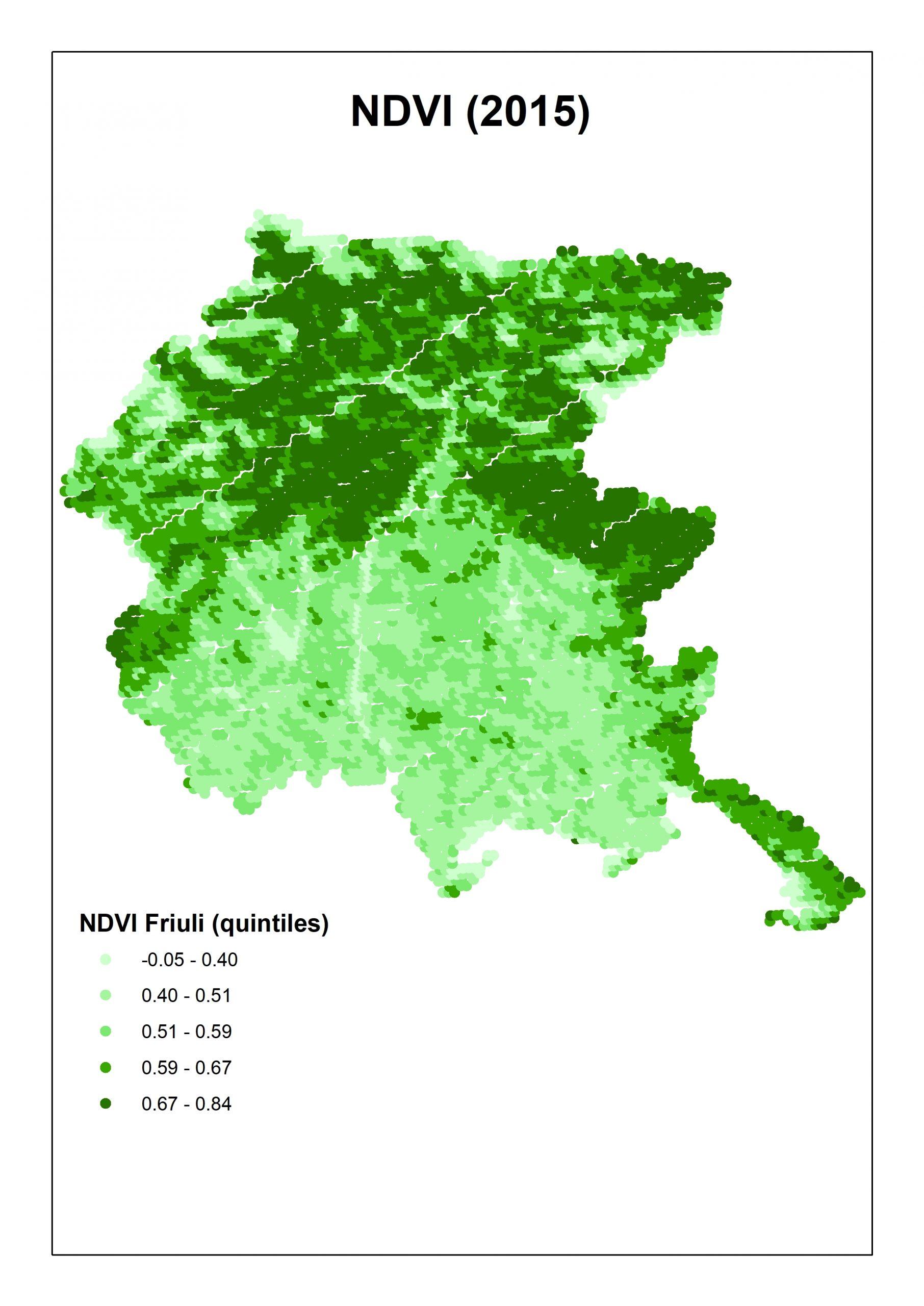 NDVI 2015 Friuli Venezia Giulia