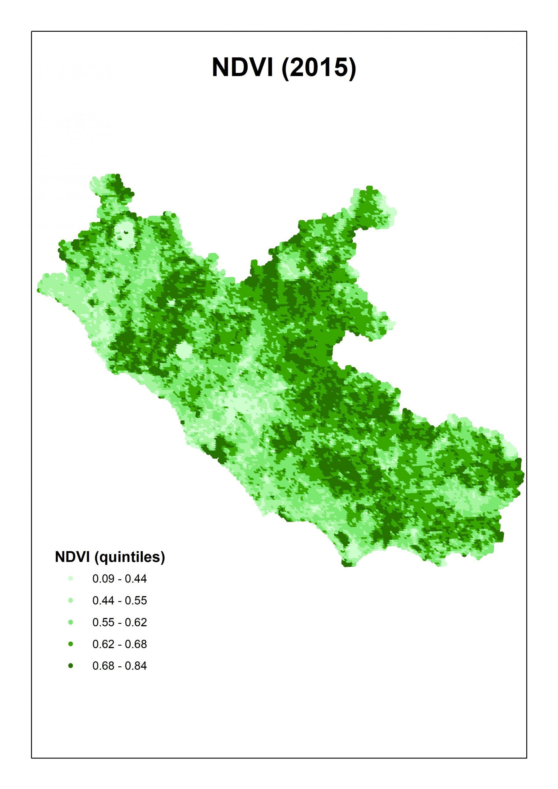 NDVI 2015 Lazio